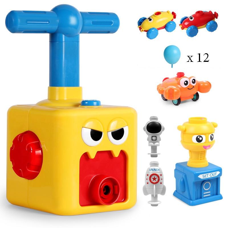 Мощный воздушный шар, автомобиль, игрушки Монтессори, обучающая головоломка, веселая инерционная пусковая башня, автомобили, игрушки для де...