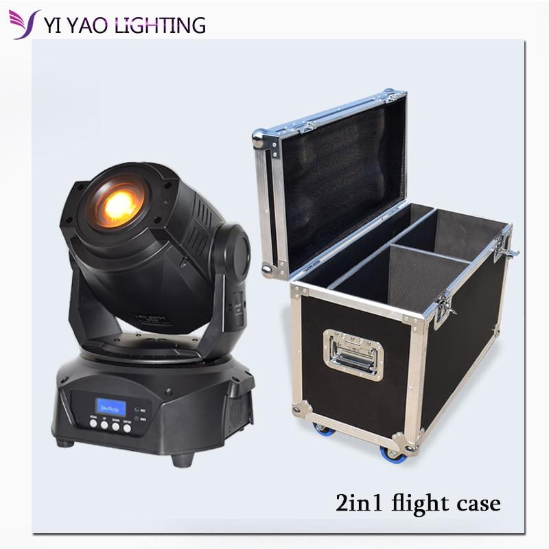 Flight Case Lyre 90w gobo lamp 3-facet prism LED Spot DMX 16CH Moving Head Stage Light for dj bar stage lighting