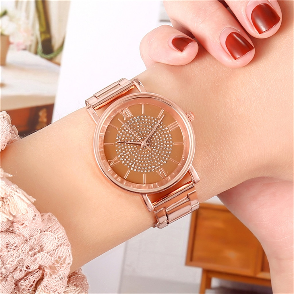 Women's Watch Elegant Luxury Female Quartz Ladies Watches Stainless Steel Dial Fashion Bracelet Girl