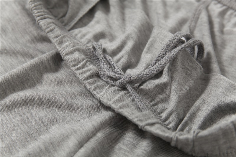 Плюс Размер 40-140 кг Мужчины Пижамы Комплекты O Шея Весна Модал Дом Одежда Лето Мягкие Сон Одежда Длинный Рукав Топ и Длинные брюки