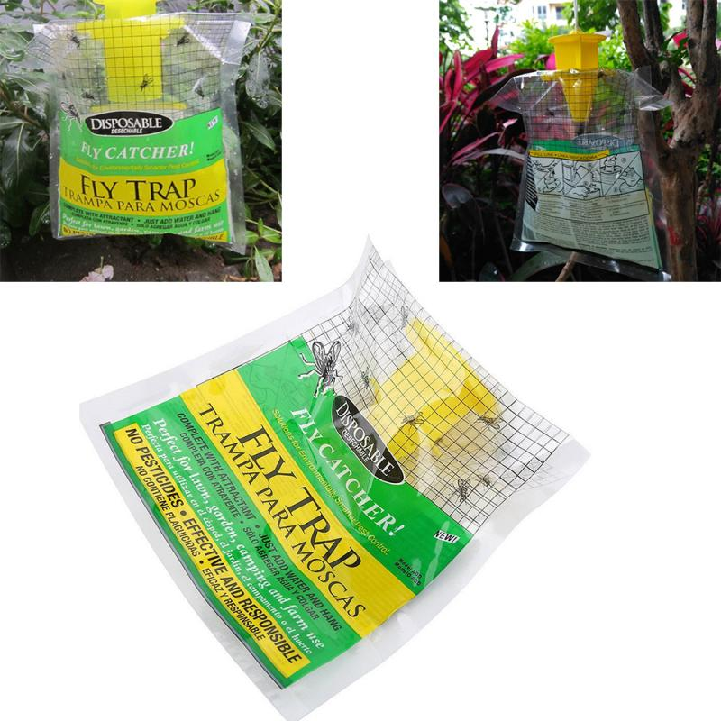 1 Pcs Hanging Flycatcher Reusable Pest Detector Fly Killer Flies Trap Cage Subnet Capture Rat Trap Home Garden Supplies TSLM1