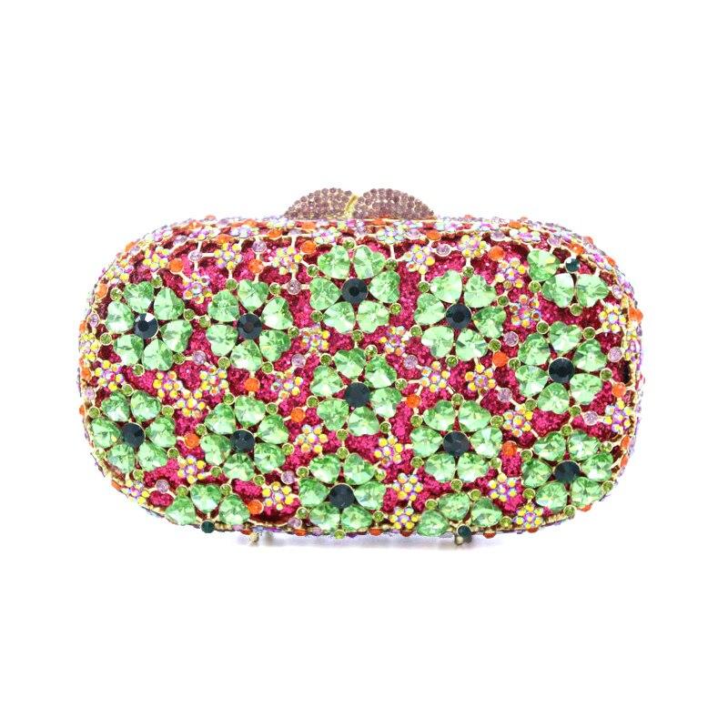 حقيبة سهرة حمراء فاخرة مرصعة بالماس والكريستال للنساء ، حقيبة يد لحفلات الزفاف ، والولائم ، والأزرق