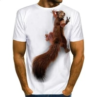 2021 summer o neck series wild animal squirrel large size eagle wings 3d printing t shirt street fashion short sleeved t shirt