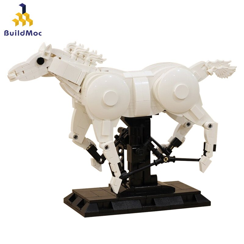 Creator Military Decoration Galloping Horse Toys Kids Animals Fairy Tale prince Bricks White Gift Model Building Blocks Creators