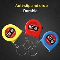 1m2 rolls measure tape keychain roulette retractable measuring instument pocket