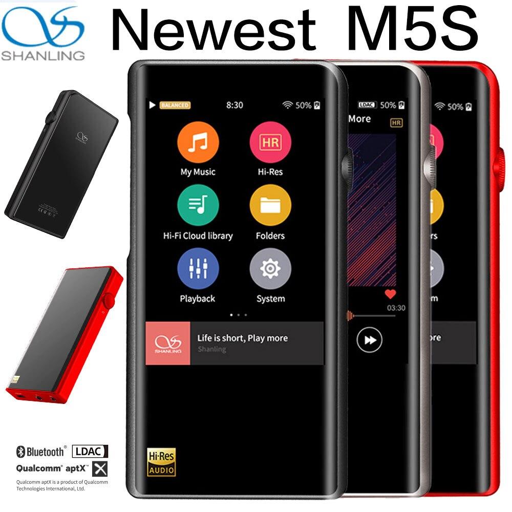 Shanling m5s bluetooth mp3 player wifi apt-x lossless players de música portáteis retina dop dsd256 hi-res áudio equilibrado