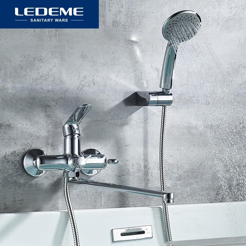 LEDEME-مجموعة حنفية حمام ، خلاط حمام كروم ، صنبور مع رأس L2272