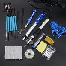 Fer à souder électrique à température réglable, fer à souder électrique 220V 60 W, Station de rénovation de soudure, crayon chauffant, 5 pièces, outil de réparation de embouts