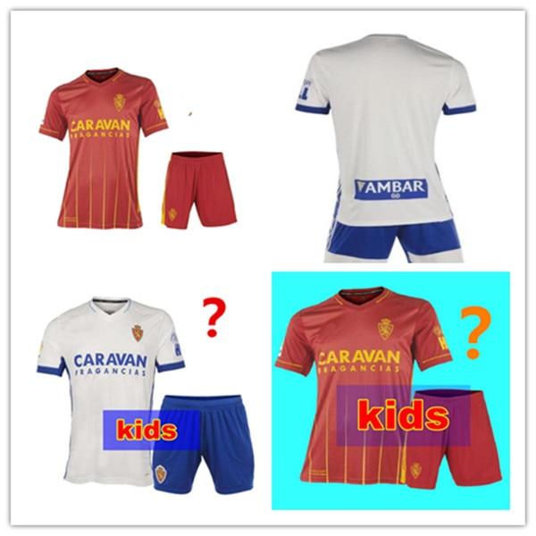 Los niños 20 21 REAL Zaragoza JERSEY de fútbol 2020, 2021 Zaragoza-Zaragoza...