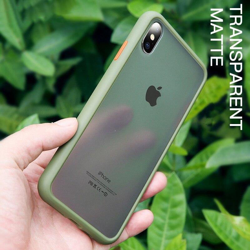 Mate transparente de la caja del teléfono duro para OPPO A1K Realme Reno 2 Z 2Z 2F 10X ACE X2 5 Q Pro X C2 A9 A5 A11X XT K3 K5 2020 cubierta