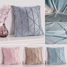 45x45 cm/55x55 cm funda de almohada de terciopelo suave de lujo funda de almohada de Color sólido funda de almohada decorativa personalizada fundas de almohada Club