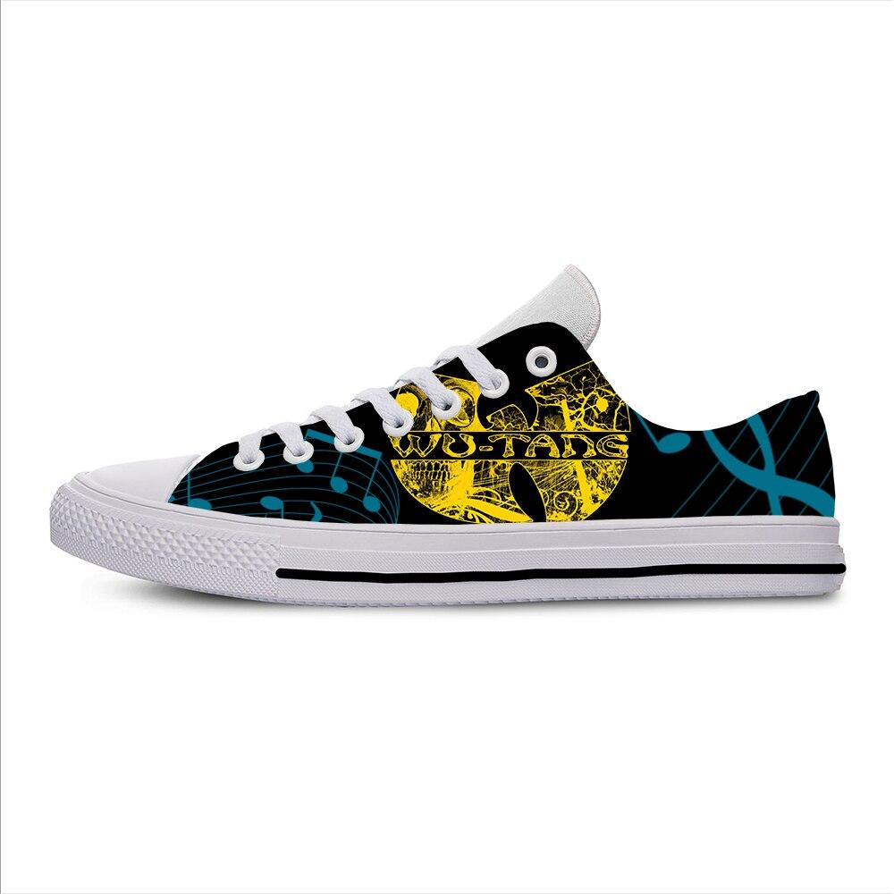 Wu Tang/Любимые парусиновые кроссовки для отдыха с изображением иконок и лент для мужчин и женщин; Zapatos; Мужская обувь; Zapatos De Hombre Balenciaga
