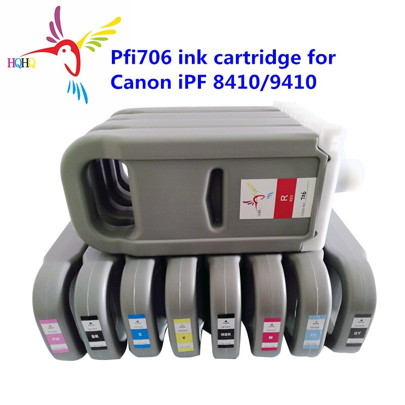 700ML 12 Colors PFI706 Compatible Ink Cartridge  with Pigment For Canon iPF 8400/9400/ 8410/9410  Printer Ink Cartridge PFI706