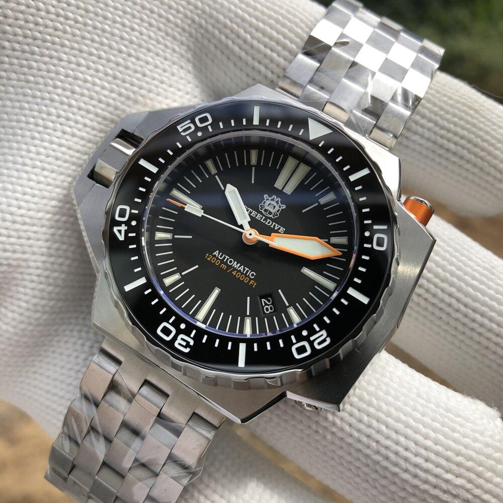 ساعة يد أوتوماتيكية موديل 1969 NH35 من steelالغوص ساعة غوص 1200 متر مقاومة للمياه C3 BGW9 ساعات آلية مضيئة ساعة رجالية من الفولاذ المقاوم للصدأ