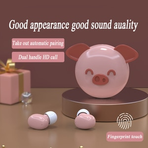 2021 Pig Wireless Bluetooth 5.0 Sports mini cute ears Touch Wireless Headsets Bluetooth Earbuds Cartoons Ear Pods for Xiaomi iOS