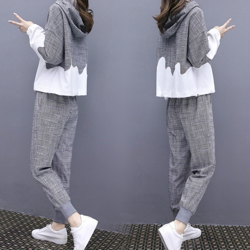 Leisure Sports Suit for Women 2021spring and Autumn Loose Slimming and Fashionable Western Style