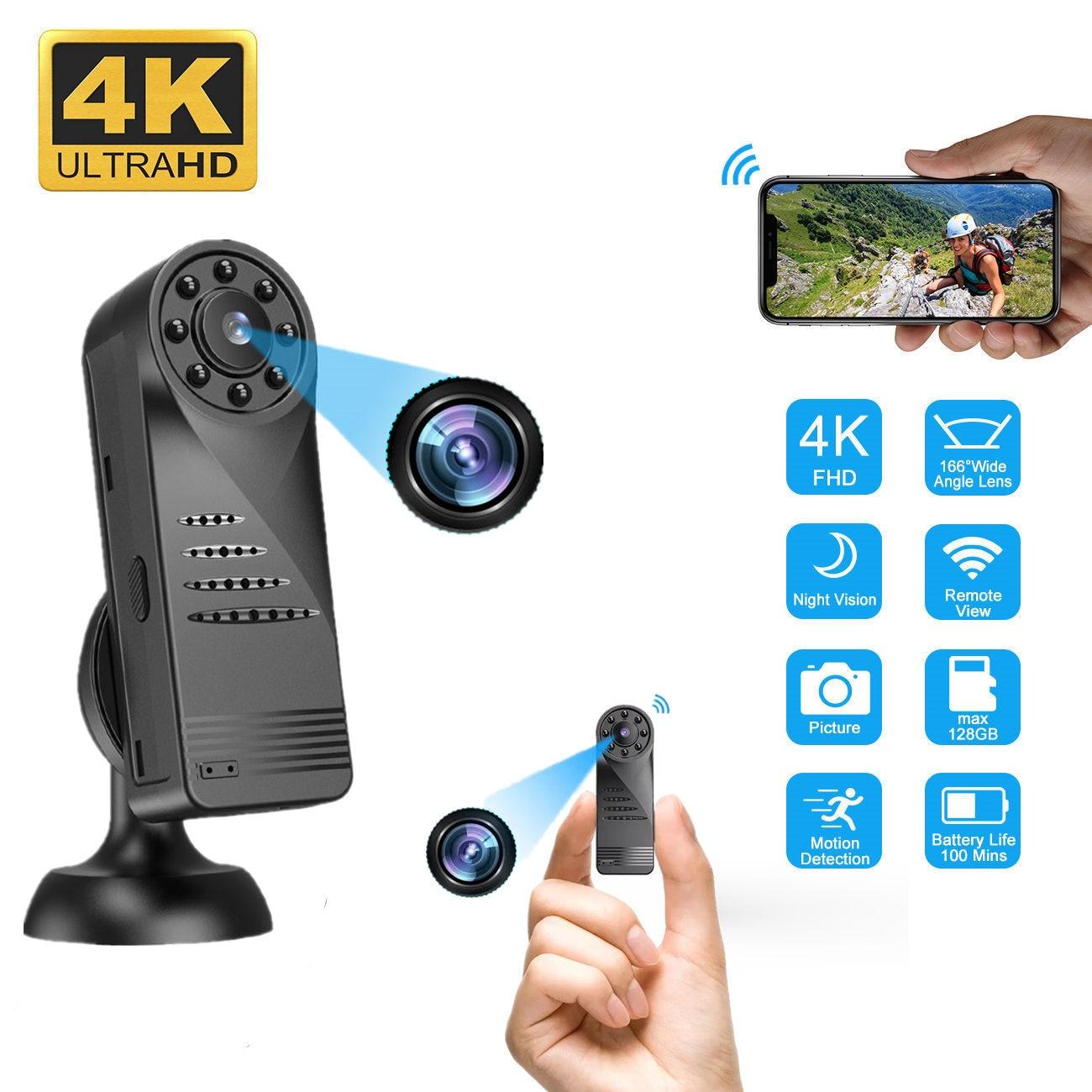 Mini cámara Digital Wifi portátil HD 4K Micro cámara portátil cuerpo cámara...