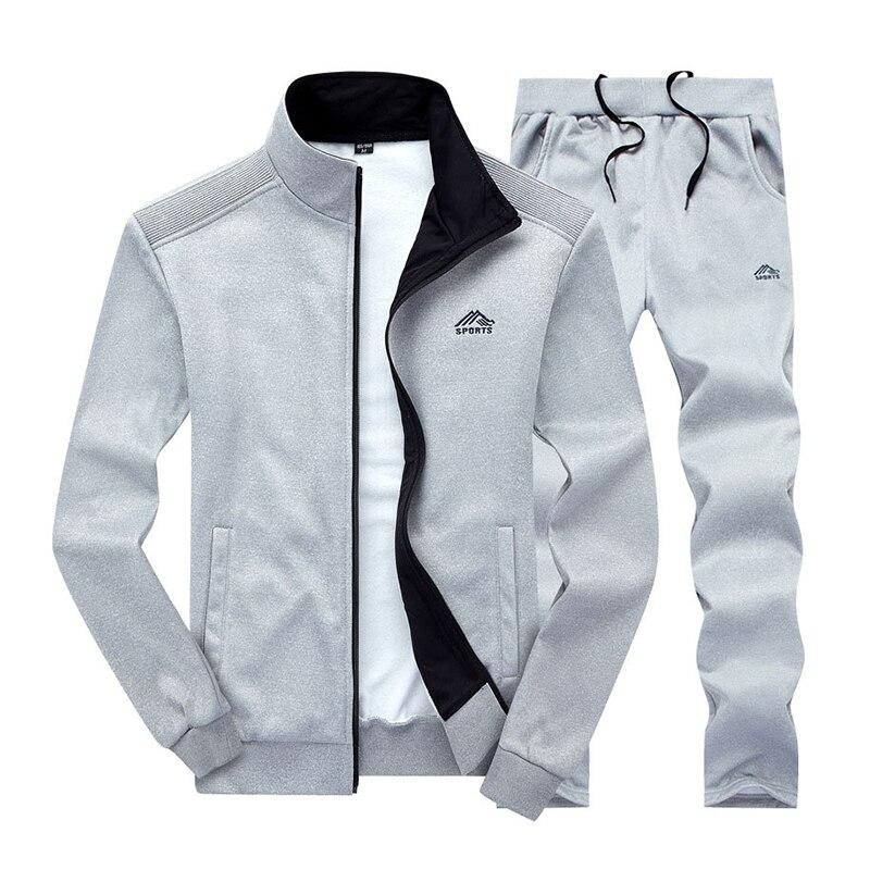 Брендовая мужская спортивная одежда, спортивная одежда для фитнеса, Топ с длинным рукавом и брюки, повседневная мужская спортивная одежда д...