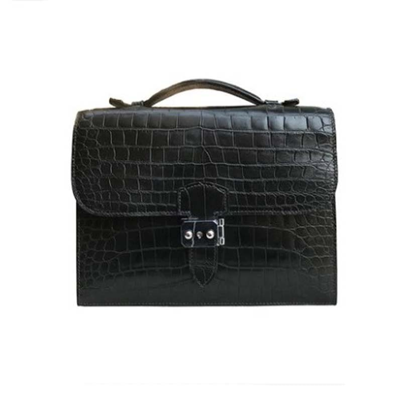 yongliang women crocodile  Leather goods the new crocodile  handbag fashionable leather handbag briefcase for men and women