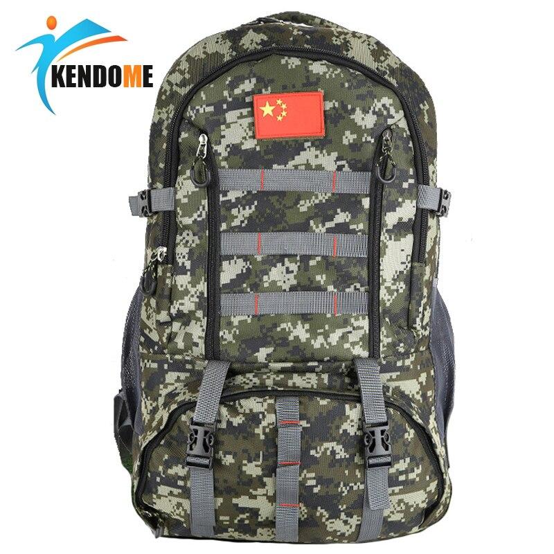 Военный тактический рюкзак 60L для охоты, спортивная сумка для кемпинга, пешего туризма, камуфляжный армейский рюкзак с моллом, для активного...