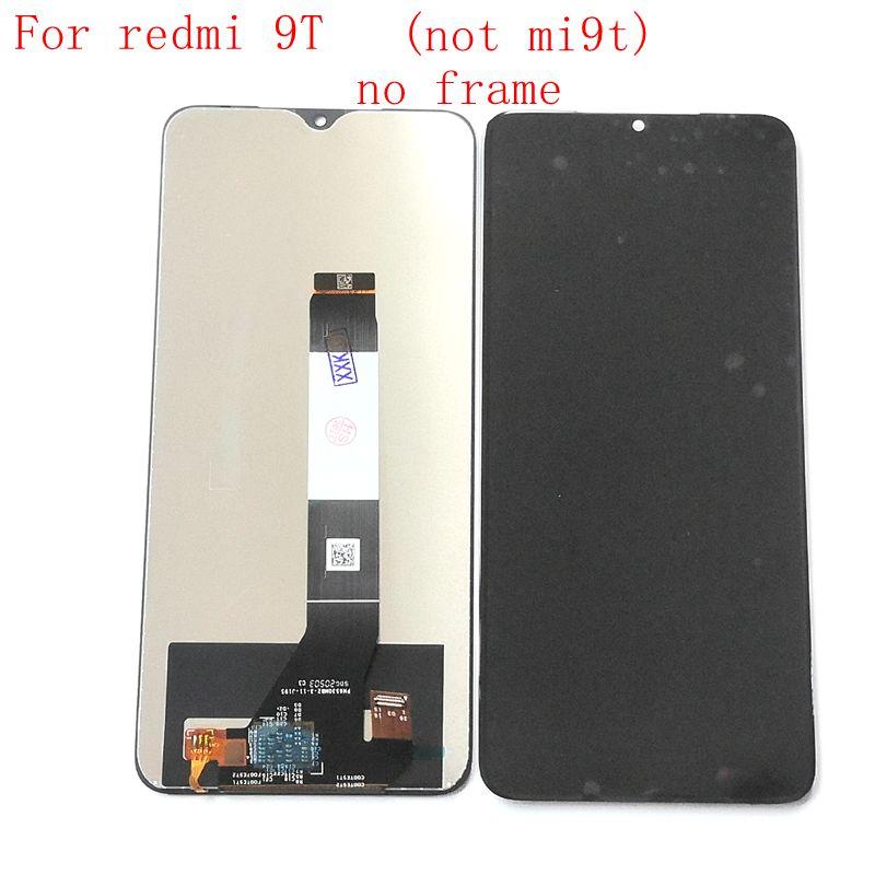 ل شاومي Redmi 9t شاشة Lcd عرض مع اللمس الزجاج محول الأرقام الجمعية استبدال أجزاء J19S M2010J19SG