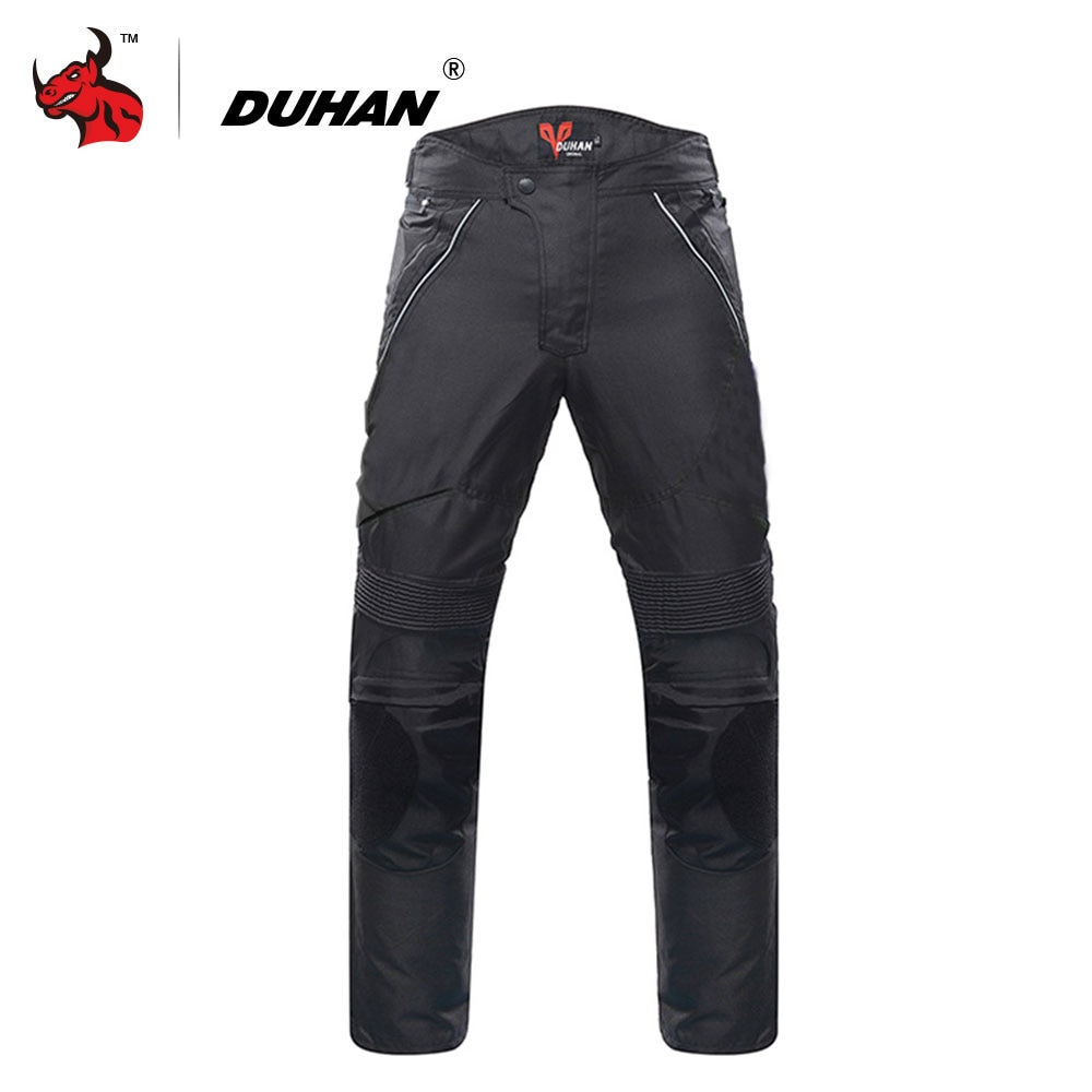 DUHAN, pantalones de Moto, equipo Protector, pantalones estilo motero para hombre, pantalones de Moto para Motocross, pantalones de montar con Protector desmontable