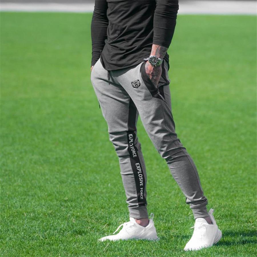 Gyms sweat pants men Japanese brand sports jogging pants new men's fashion cotton slim bodybuilding