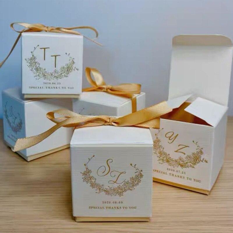 شخصية هدايا الزفاف عملية البرنز شعار مخصص الشمبانيا المشمش الأحمر كاندي صندوق هدايا للضيوف