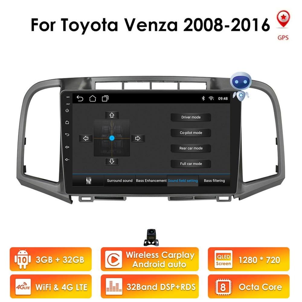 2din الروبوت سيارة مشغل وسائط متعددة GPS لتويوتا فنزا 2008 2009 2010 2011 2012 2013 2014 2015 2016 ستيريو autoradio الصوت واي فاي