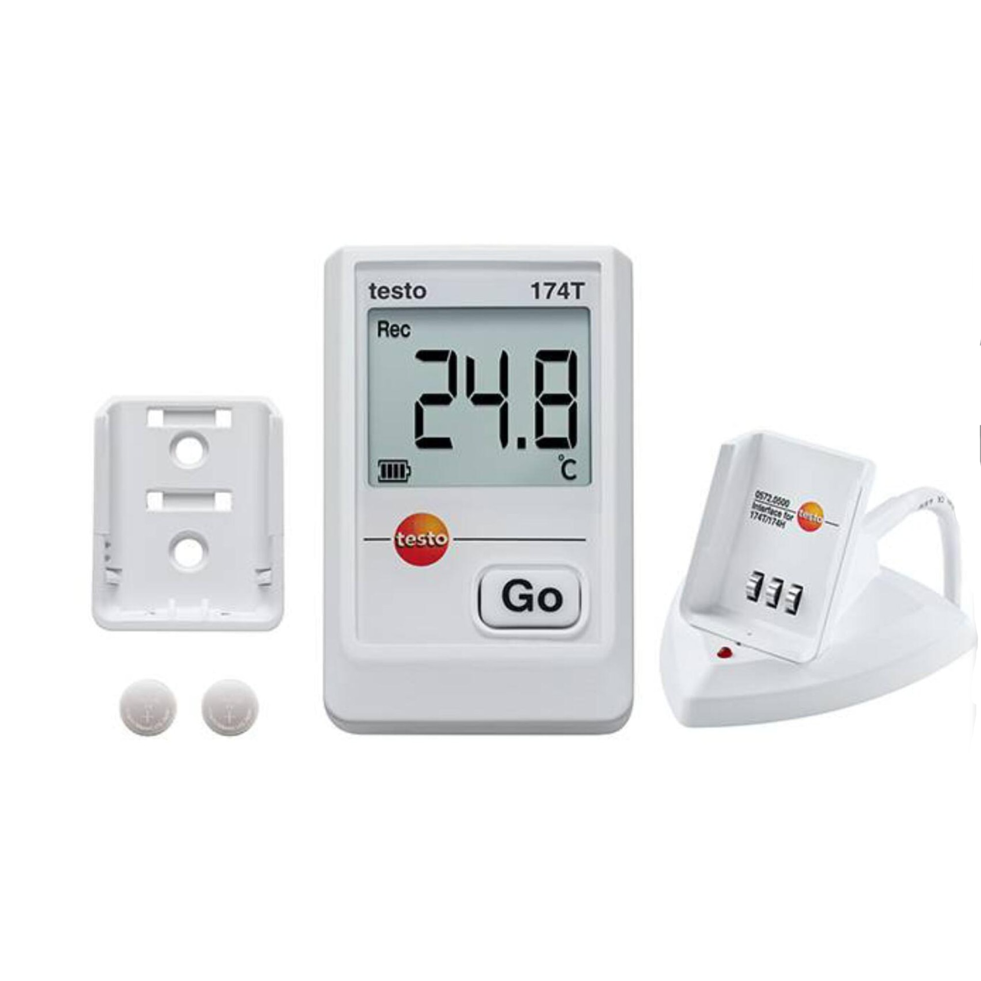 Testo174 T - Mini registrador de datos de temperatura kit de rango de medida-22 ° a 158 °F/de alta precisión sensor Termistor NTC 0572. 0561