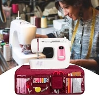 desktop sewing machine mat for table accessories with pockets foldable waterproof pad multifunction home folding mat