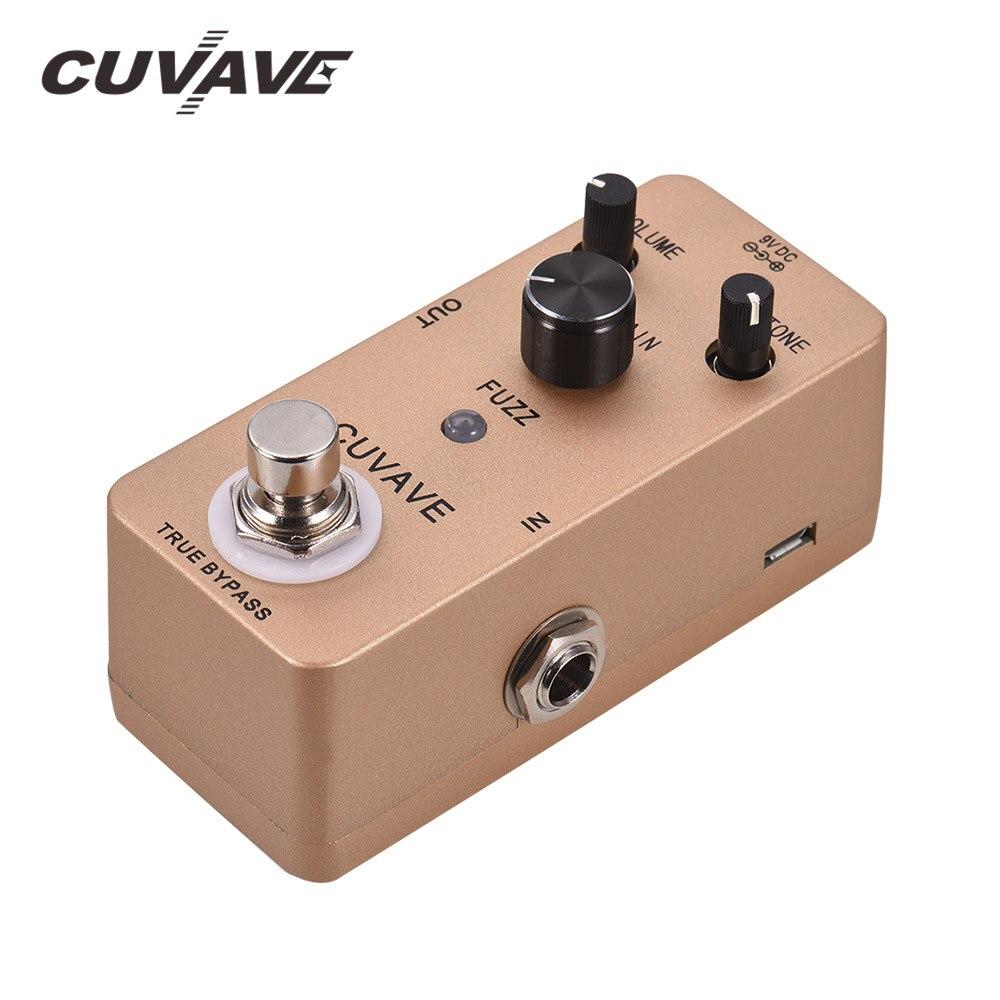 CUVAVE-pédale de guitare avec effet de guitare Vintage, coque en alliage de Zinc, True Bypass, accessoires de guitare