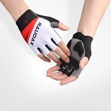 Raudax-Men's and women's half-finger reflective non-slip outdoor sports cycling gloves, suitable for
