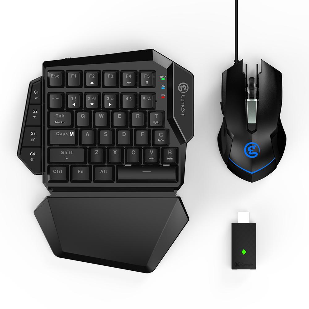 لوحة مفاتيح وماوس ألعاب GameSir VX ، لاسلكية ، بلوتوث ، مع محول كومبو, وحدة تحكم PS4 ، لجهاز بلاي ستيشن 4/Xbox/Switch