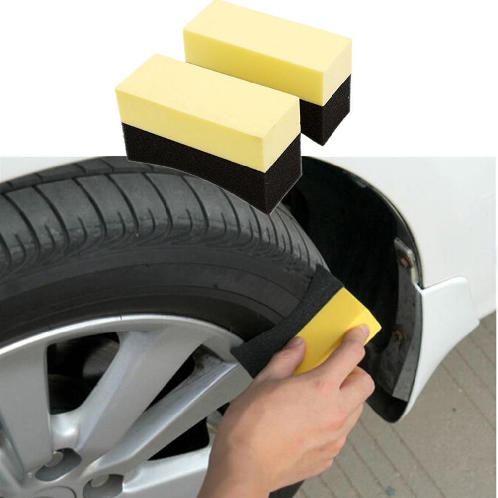 Car Tyre Brush car Cleaning Sponge Accessories for Toyota Corolla RAV4 Yaris Honda Civic CRV Nissan X-trail Tiida Accessories