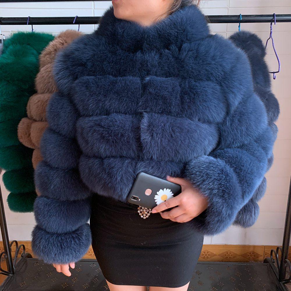 2020 Real Fur Coat 100% new arrival hot sale real fox fur coat women fur jacket short coat