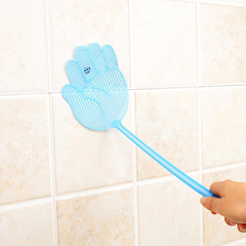 Mosca bonito swatter bonito palmeira padrão plástico fly swatter leve flapper mosquito bug controle de pragas inseto assassino ferramentas gadget