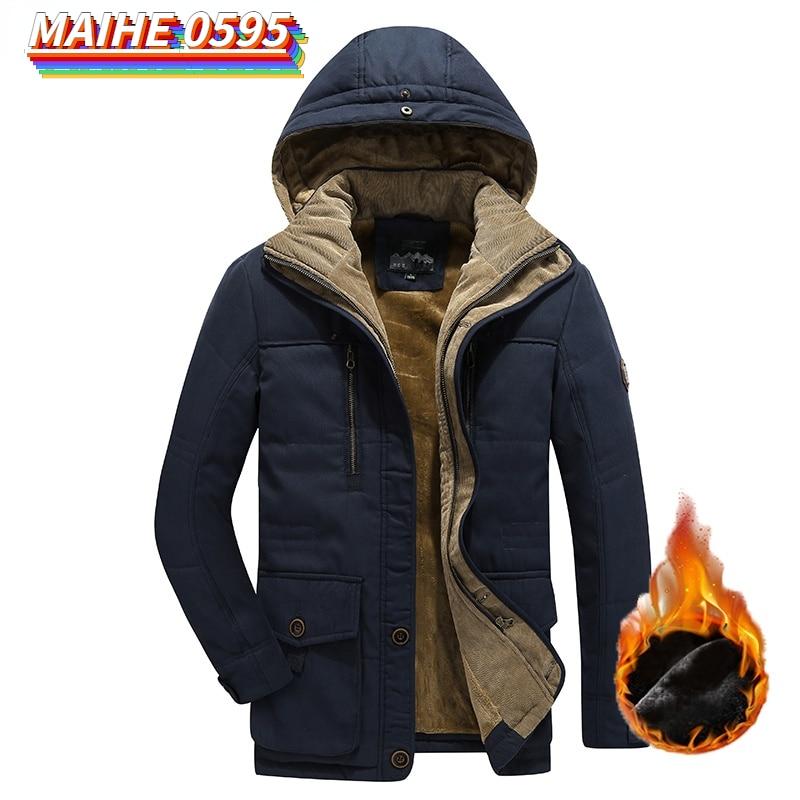 Парка мужская зимняя флисовая со съемным капюшоном, уличная куртка в стиле милитари, Повседневная Свободная парка с карманами, 6XL