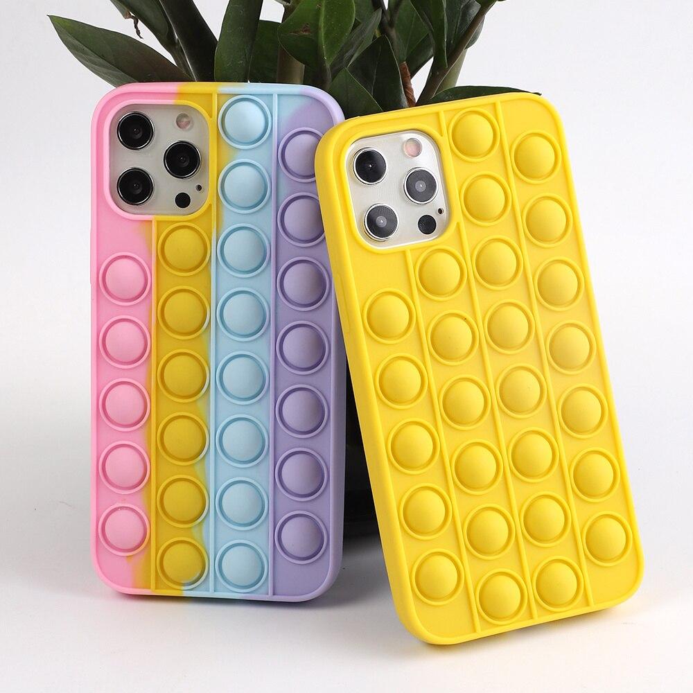 Funda para iPhone 12 11 Pro Max X XR SE 2020 5s 6 6s 7 8 XS la RX alivia el tecnologías ecológicamente racionales de juguetes antiestrs