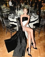 elegant black and white celebrity dresses 2021 long mermaid evening dresses women party night fashion couture robes de soiree