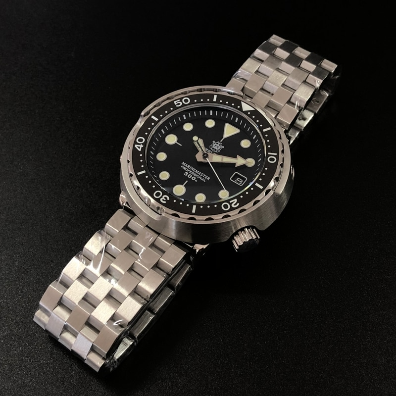 Steeldive SD1975 Black Dial Ceramic bezel 30ATM 300m Waterproof Stainless Steel NH35 Tuna Mens Dive