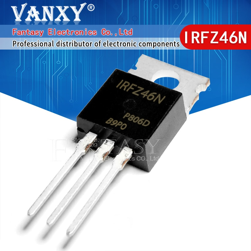 100 قطعة IRFZ46N إلى 220 IRFZ46 TO220 IRFZ46NPBF