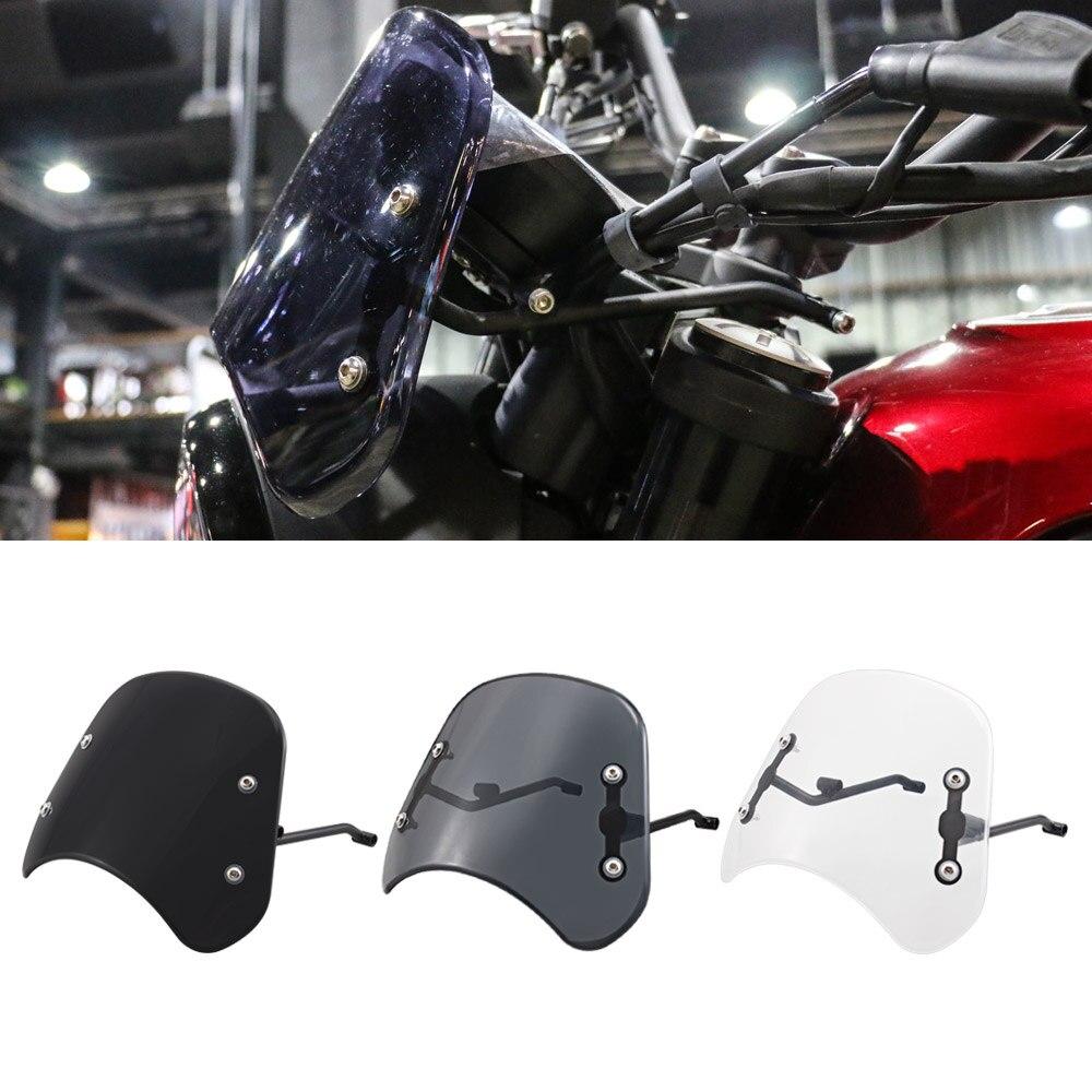 Farol windshield instrumento viseira defletor de vento da motocicleta protetor acessórios para benelli leoncino 250 500 trail