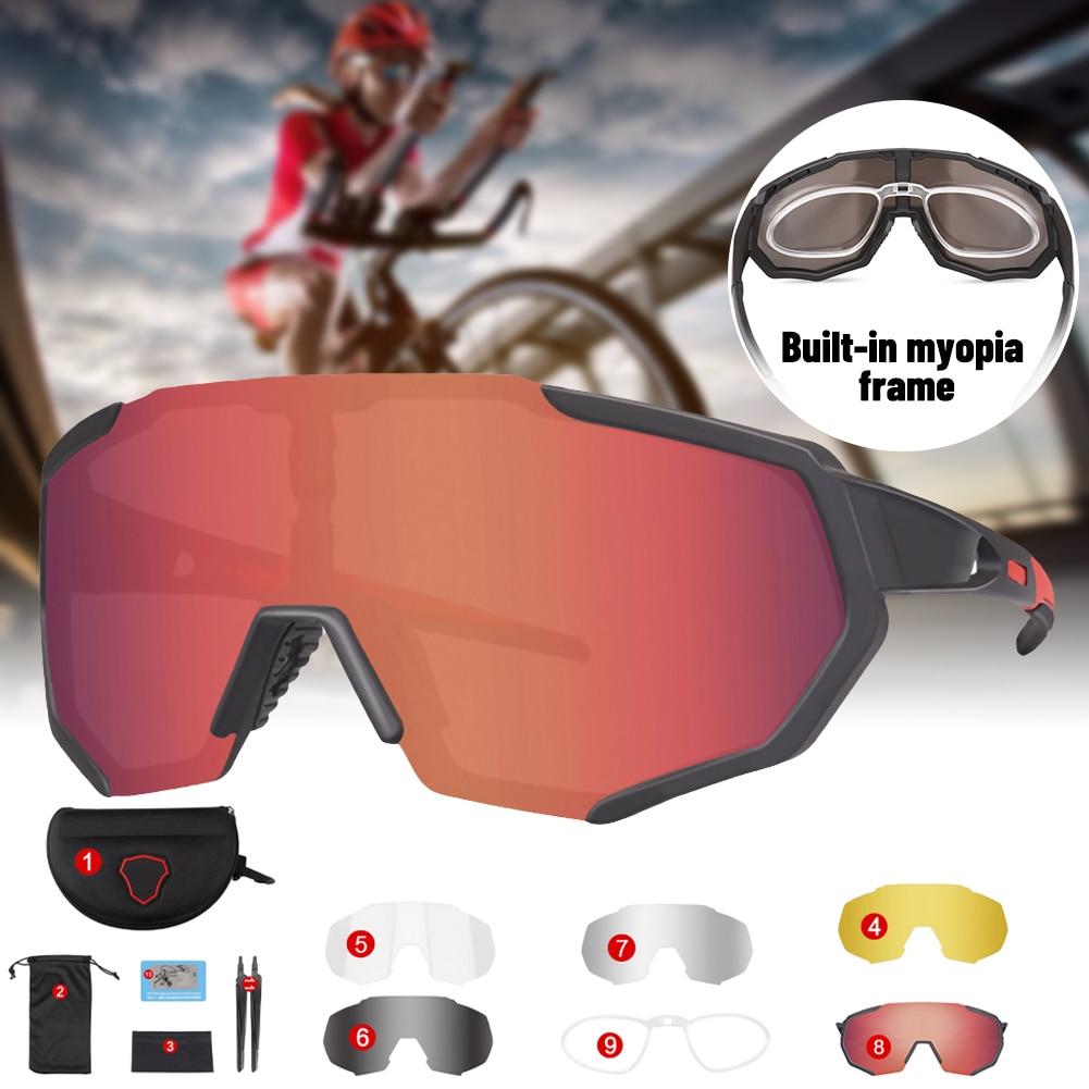 2021 велосипедные солнцезащитные очки с 5 линзами Поляризованные спортивные мужские велосипедные очки защитные очки для езды на горном велос... очки защитные с лупой и дополнительными линзами sparta 913835