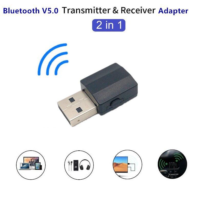BT600 2In1 BT 5.0 Audio Receiver Transmitter Wireless Adapter Mini 3.5mm AUX Stereo Transmitter for TV PC Car Speaker