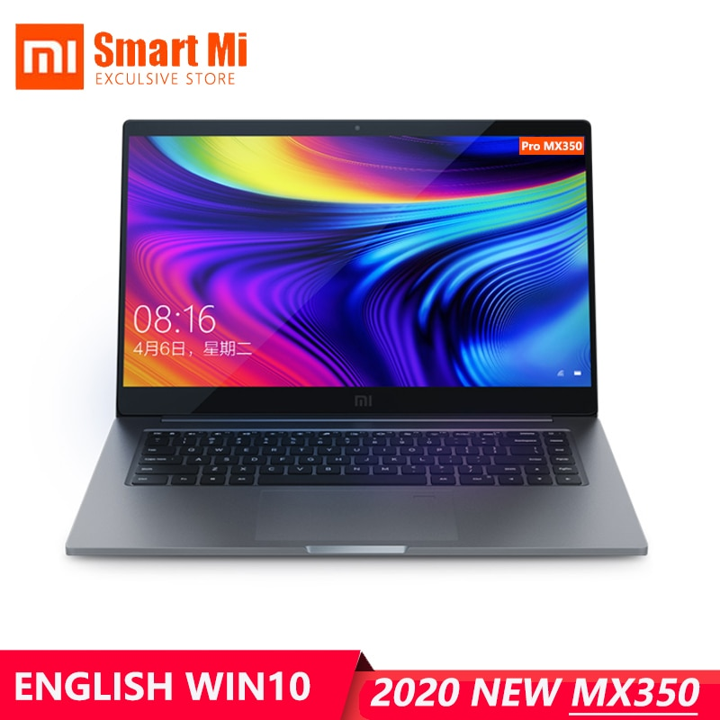 English Version Xiaomi Mi Laptop Pro 2020 15.6Inch MX350  Intel i7-10510U 16GB 1TB SSD / i5-10210U 8GB 512GB SSD Fingerprint