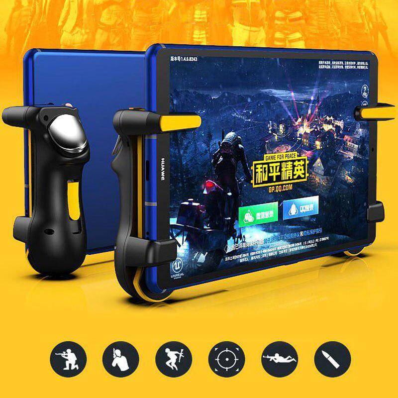PUBG Trigger Controller Gamepad For Ipad Tablet Capacitance L1R1 Aim Button Joystick Grip For Mobile