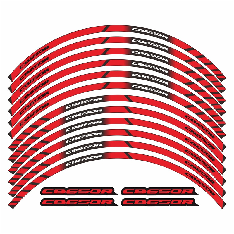 Для Honda cb650r новые наклейки на колеса мотоцикла, декоративные наклейки на обод шины, полосы, светоотражающие наклейки с логотипом