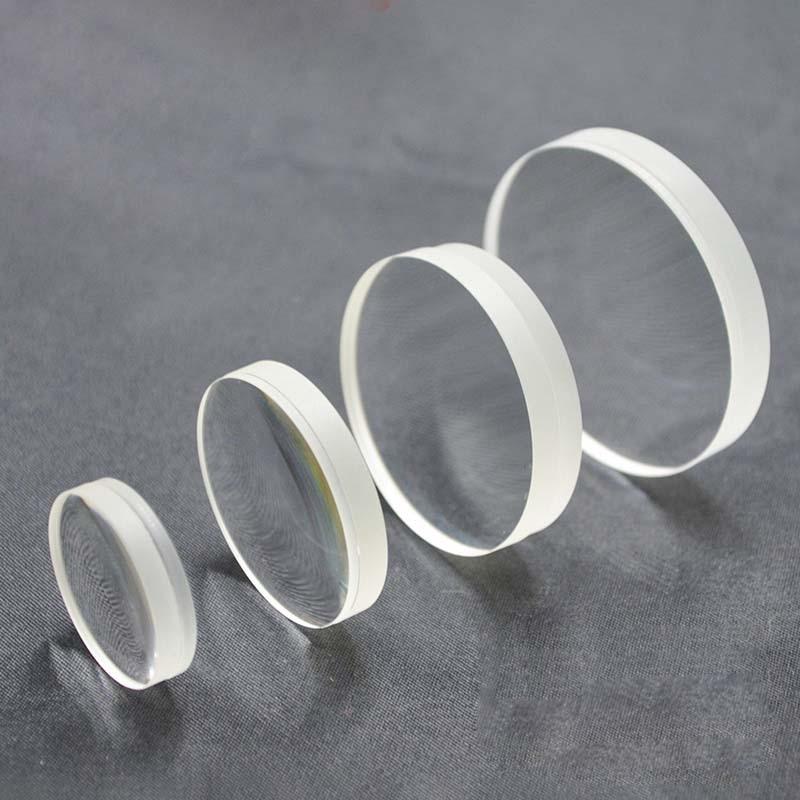 Ахроматическая положительная цементированная линза, диаметр 18 мм, фокусное расстояние 100 мм, цементированная ахроматическая плоская выпуклая линза