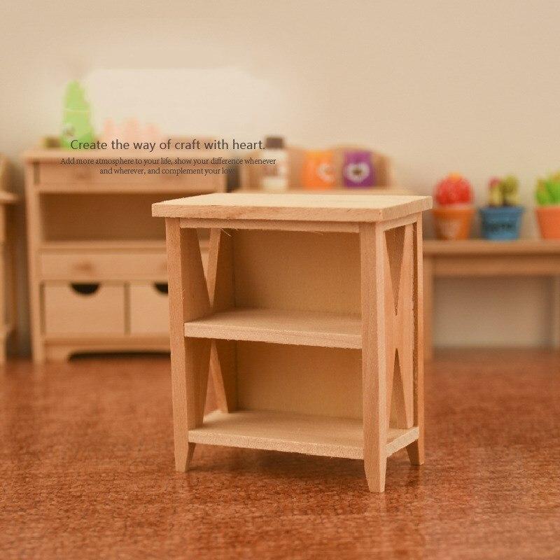 Новинка 1/12 миниатюрные неокрашенные шкафчики для кукольного домика стойка для хранения модель аксессуары «сделай сам» Игрушки